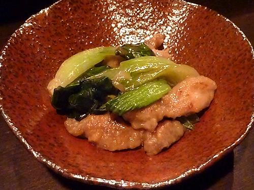 16鶏とチンゲン菜の中華いため350