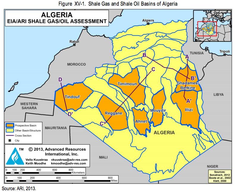 アルジェリア シェールガス 2013 2