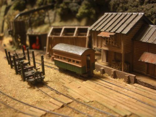 鉄道模型 森林鉄道 車両基地4