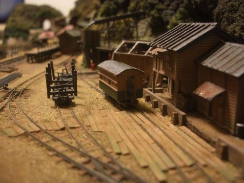 鉄道模型 森林鉄道 車両基地5