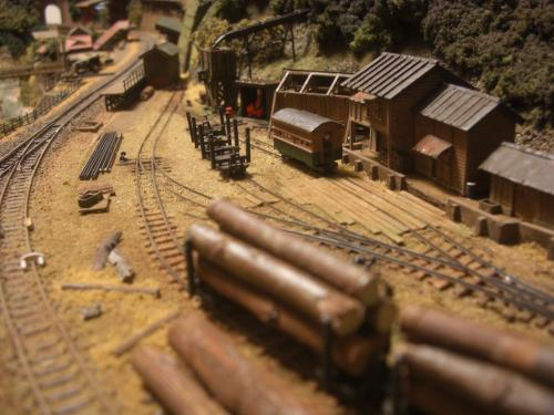 鉄道模型 森林鉄道 車両基地1