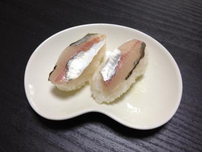 マアジの握り寿司