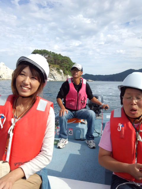 922さっぱ船・・・川辺さんと明美さんとおじさん