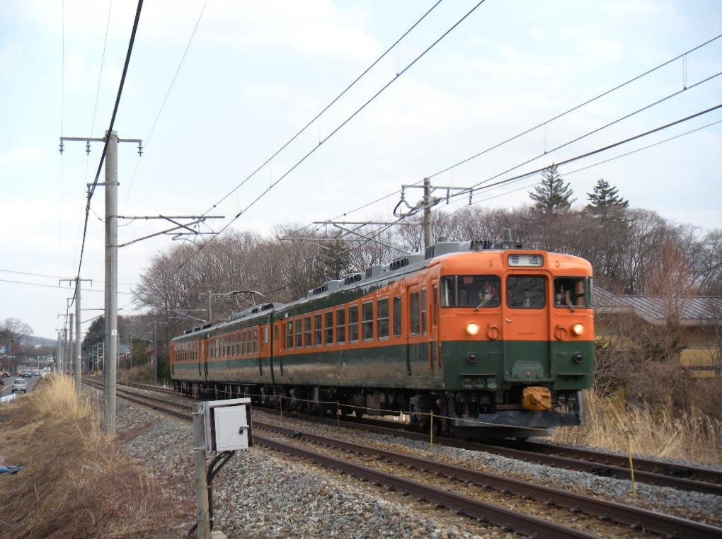 169系湘南色 軽井沢~中軽井沢