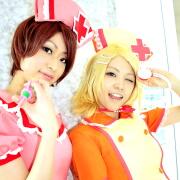 ☆Eimy (MEIKO) / いちる (鏡音リン) @となりでコスプレ博 in TFT 2011冬☆