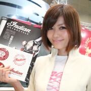☆大塚れいか (インディアンモーターサイクル)@東京モーターサイクルショー2012☆