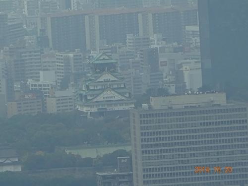 DSC00296ハルカスから大阪城