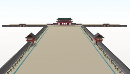 朱雀大路から羅城門