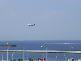 33 着陸する飛行機.JPG