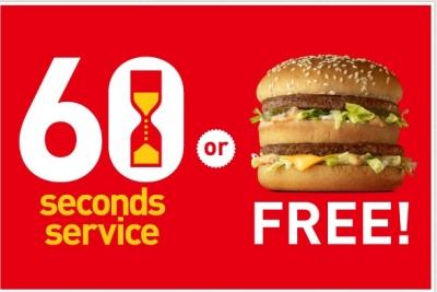 60秒無料バーガーキャンペーン