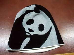 パンダのニット帽