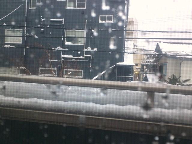 初雪 16時