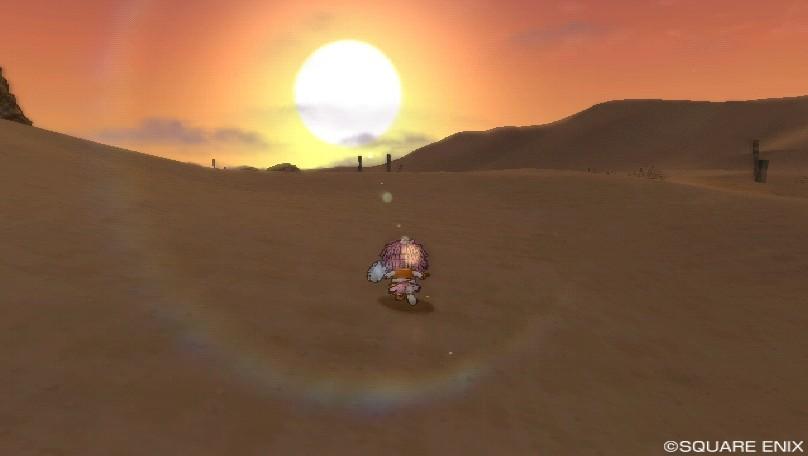 ゴブル砂漠東の夕焼け