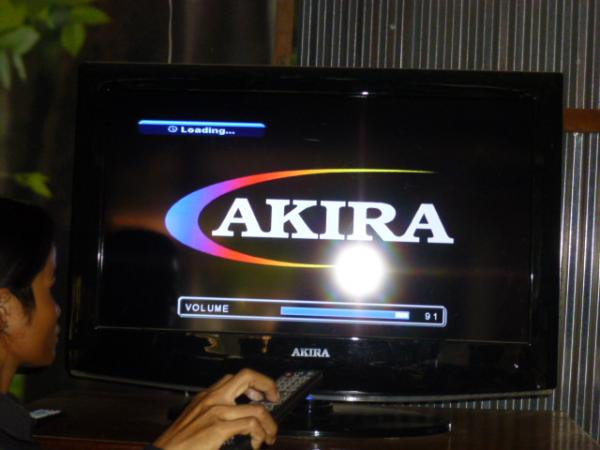 博物館にある「AKIRA」製のテレビ