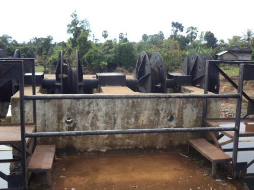 貯水池の水門4