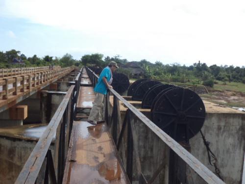 貯水池の水門