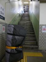 山電「西舞子」ホームへの階段