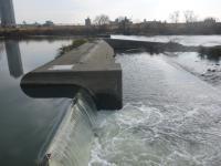 41号線 空港線 下流側の堰20130119