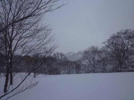8向こうの尾根にスキー場