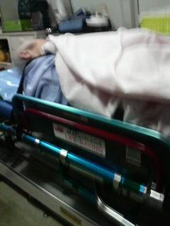 救急車の中