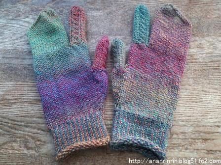 ミツマタ手袋3