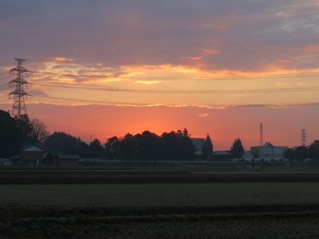 秋の朝焼け