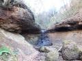 水量のない化石滝