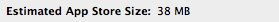 Estimated App Store Size 4.5b