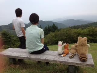 田束山後ろ向き写真