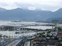 仙崎漁港、東の三隅方面を望む