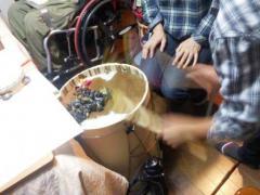 Estudio de tocar la Bombo