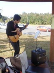 アンプをつなげてギター伴奏