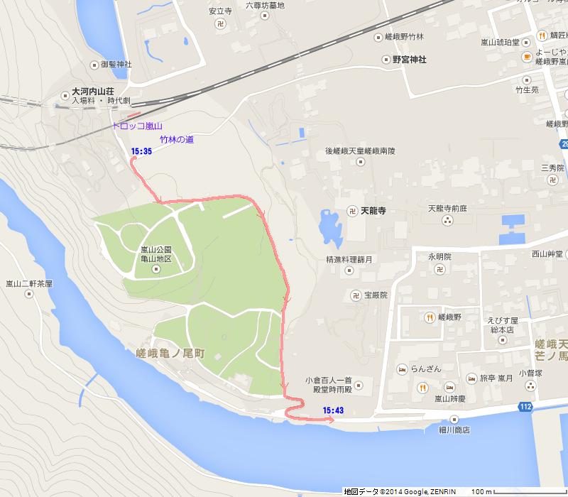 140909 くまちゃん失踪事件現場付近地図