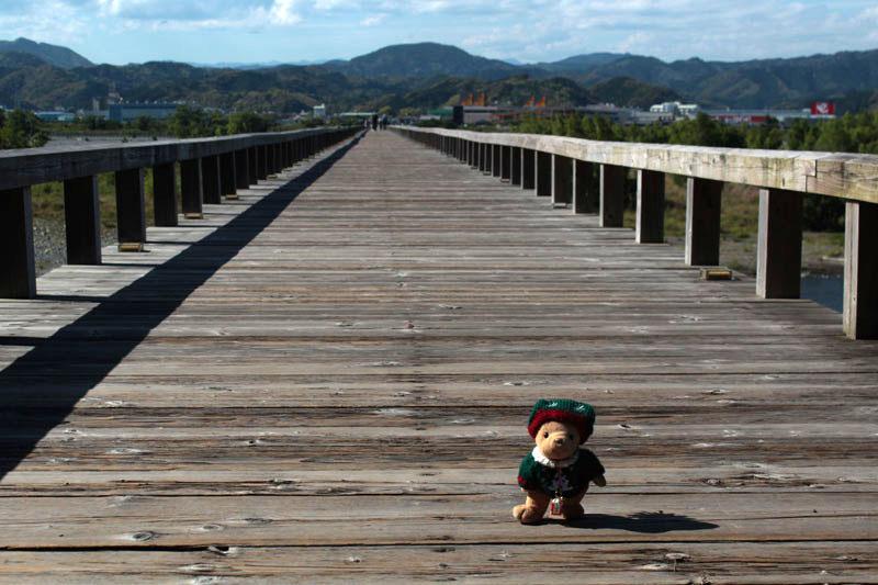 蓬莱橋で・金谷側から・140517