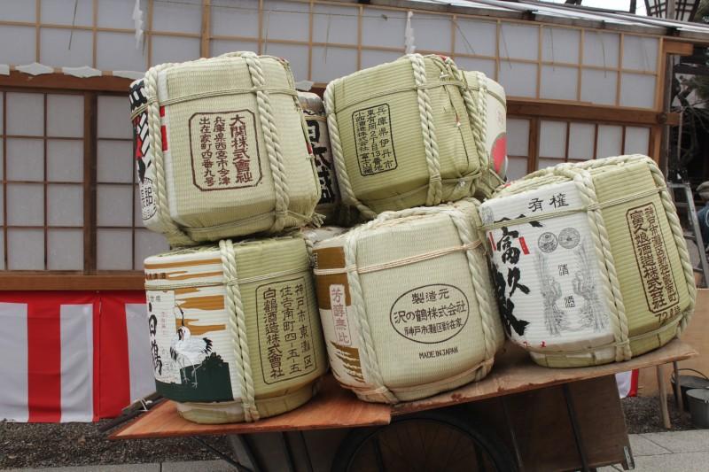 奉納の酒樽 靖国神社