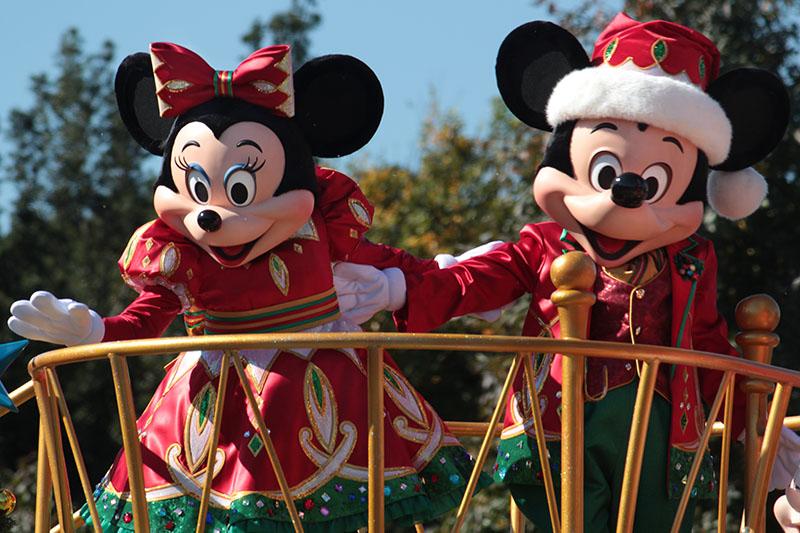 クリスマスパレード ミッキー&ミニー