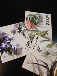 201208 墨彩画 色紙