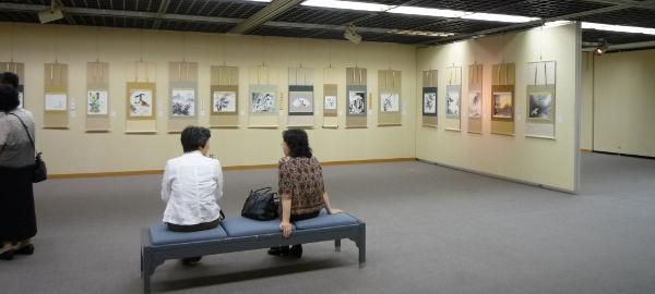 201207 京都 水墨画展 会場