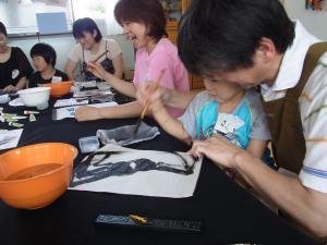 201208 夏季水墨画ボランティア 02