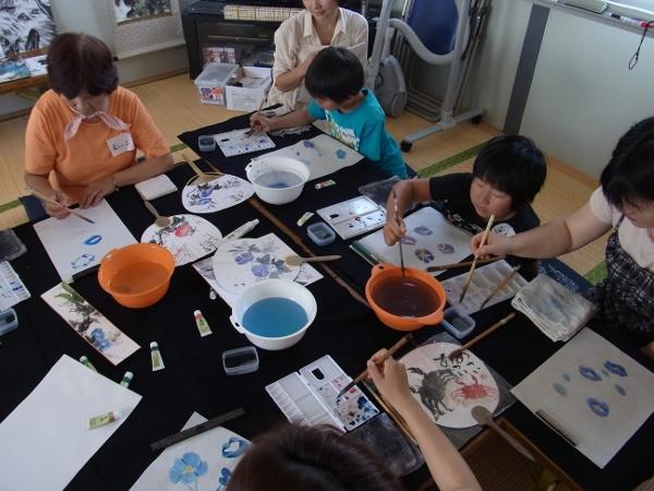 201208 夏季水墨画ボランティア 03