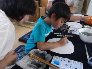 201208 夏季水墨画ボランティア 04