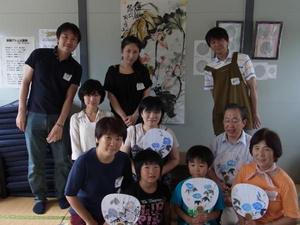 201208 夏季水墨画ボランティア 05