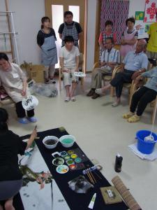 201208 夏季水墨画ボランティア 11