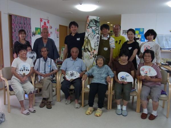 201208 夏季水墨画ボランティア 12