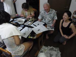 201208 夏季水墨画ボランティア 23