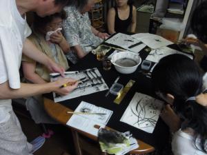201208 夏季水墨画ボランティア 24