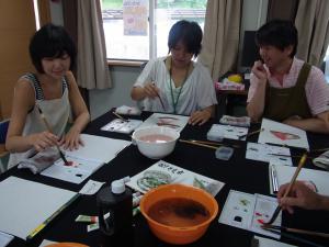 夏季水墨画ボランティア 17