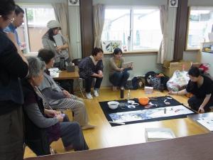 201204 春の水墨画ボランティア 1日目 am06