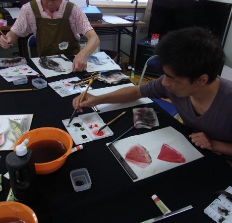 夏季水墨画ボランティア 18