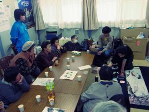 201204 春の水墨画ボランティア 1日目 pm01